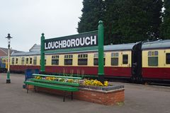 Loughborough centralstationplattform 1 Royaltyfri Fotografi