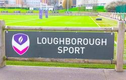 Loughborough/Großbritannien - 03 03 19: Loughborough-Universitätsgelände-Sportfelder lizenzfreie stockfotografie