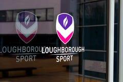 Loughborough/het UK - 03 03 19: De Gebouwencampus het Verenigd Koninkrijk van de Loughborough Universitaire Sport royalty-vrije stock afbeeldingen