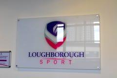 Loughborough/het UK - 03 03 19: De Gebouwencampus het Verenigd Koninkrijk van de Loughborough Universitaire Sport royalty-vrije stock foto