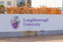 Loughborough/het UK - 03 03 19: De Gebouwencampus het Verenigd Koninkrijk van de Loughborough Universitaire Sport stock foto's