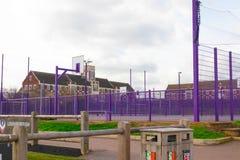 Loughborough/het UK - 03 03 19: De sportgebieden van de Loughborough Universitaire Campus stock foto's