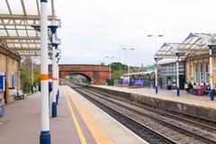 Loughborough/Regno Unito - 03 03 19: Stazione ferroviaria di Loughborough vicino a Nottingham ed a Leicester fotografie stock