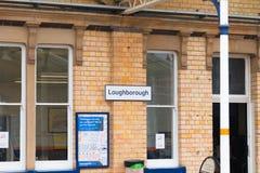 Loughborough/Regno Unito - 03 03 19: Stazione ferroviaria di Loughborough vicino a Nottingham ed a Leicester immagini stock