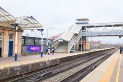 Loughborough/Regno Unito - 03 03 19: Stazione ferroviaria di Loughborough vicino a Nottingham ed a Leicester fotografia stock libera da diritti