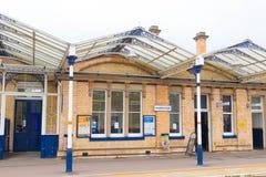 Loughborough/Regno Unito - 03 03 19: Stazione ferroviaria di Loughborough vicino a Nottingham ed a Leicester immagine stock libera da diritti