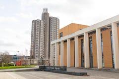 Loughborough/Reino Unido - 03 03 19: Campus Reino Unido de los edificios del deporte de la universidad de Loughborough fotografía de archivo libre de regalías