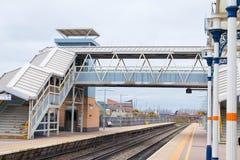 Loughborough/Reino Unido - 03 03 19: Estação de caminhos de ferro de Loughborough perto de Nottingham e de Leicester fotografia de stock