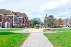 Loughborough/Reino Unido - 03 03 19: Terreno Reino Unido das construções do esporte da universidade de Loughborough fotos de stock