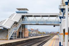 Loughborough/ UK - 03.03.19 : Loughborough train station near Nottingham and Leicester stock photography