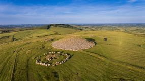 Loughcrew cairns. county Meath. Ireland royalty free stock photo