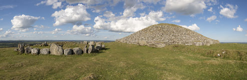 Loughcrew. Megalithic architecture (stone circle and tomb)  in Ireland Royalty Free Stock Photos