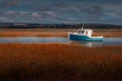 Loughor ujścia łódź Obrazy Royalty Free