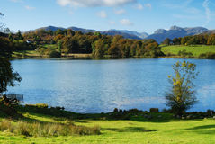 Loughrigg. Autumn on Loughrigg Tarn - Lake district - England Royalty Free Stock Photography