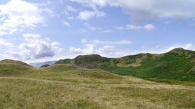 Loughrigg Fell summit ridge, widescreen Royalty Free Stock Image
