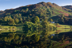 Loughrigg Tarn and Fell Royalty Free Stock Photography