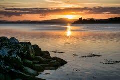 LoughSwilly solnedgång arkivbild