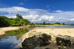 LoughSwilly strand arkivbild