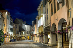 Louhans by night Royalty Free Stock Images
