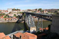 Louis 1 Bridge, Porto. Stock Photo