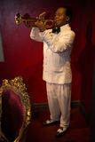 Louis Armstrong in Grevin museum of the wax figures in Prague. Stock Image