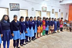 Louis Braille-Blind School In India royalty-vrije stock fotografie