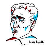Louis brajlu portret royalty ilustracja