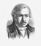 Louis Daguerre, French artist and photographer,XIX century Royalty Free Stock Photo