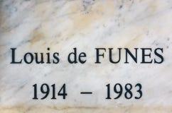 Louis De funès grób w Le Cellier, Francja Obraz Stock