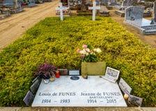 Louis De funès grób w Le Cellier, Francja Fotografia Stock