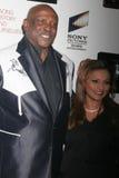 Louis Gossett Jr. and Mona Ibrahim Stock Images