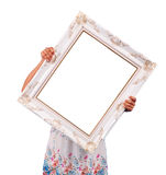 Louis holds a picture frame Stock Photos