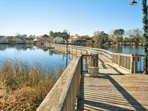 Louis Lake at Barefoot Landing in North Myrtle Beach stock images