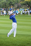 Louis Oosthuizen - Fairway Shot. Louis Oosthuizen, on the Fairway, toward the 1st green Royalty Free Stock Image