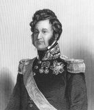Louis Philippe. (1773-1850) on engraving from the 1800s Royalty Free Stock Images