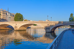 Louis Philippe bridge in Paris. Royalty Free Stock Photo