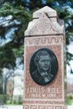 Louis Riel headstone Zdjęcie Stock