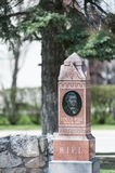 Louis Riel Tombstone Under Old Tree, Royalty Free Stock Photo