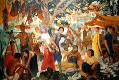 Louis Rollet Painting-` Markt an Murmeltier ` Lizenzfreie Stockfotografie