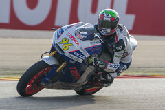 Louis Rossi Moto2 Grand Prix Movistar Aragà ³ ν MotoGP Στοκ Φωτογραφία
