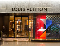 louis shoppar vuitton Royaltyfri Foto