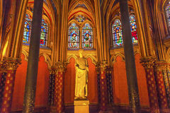 Louis 9Th Memorial Stained Glass Lower Chapel Sainte Chapelle Pa Stock Images