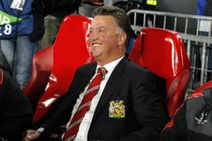 Louis van Gaal Manchester Unied Royalty Free Stock Photography