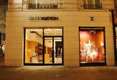 Louis Vuitton armazena Fotos de Stock Royalty Free