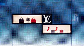 Louis Vuitton bag store shop window Stock Photography