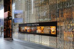 Louis Vuitton boutique Royalty Free Stock Images