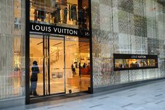 Louis Vuitton boutique Stock Image