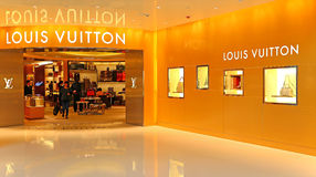 Louis vuitton boutique, hong kong Royalty Free Stock Photography