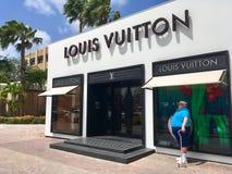 Louis Vuitton brand store in Aruba.  Royalty Free Stock Photos