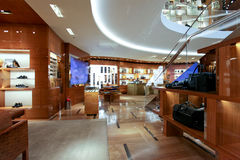 Louis Vuitton clothing store in Rome Stock Photo